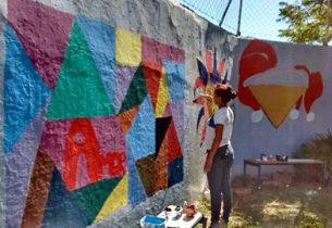 Alunos transformam escolas estaduais de Andradina em galerias de arte a céu aberto
