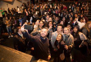 Secretário da Educação se reúne com alunos da região do ABC