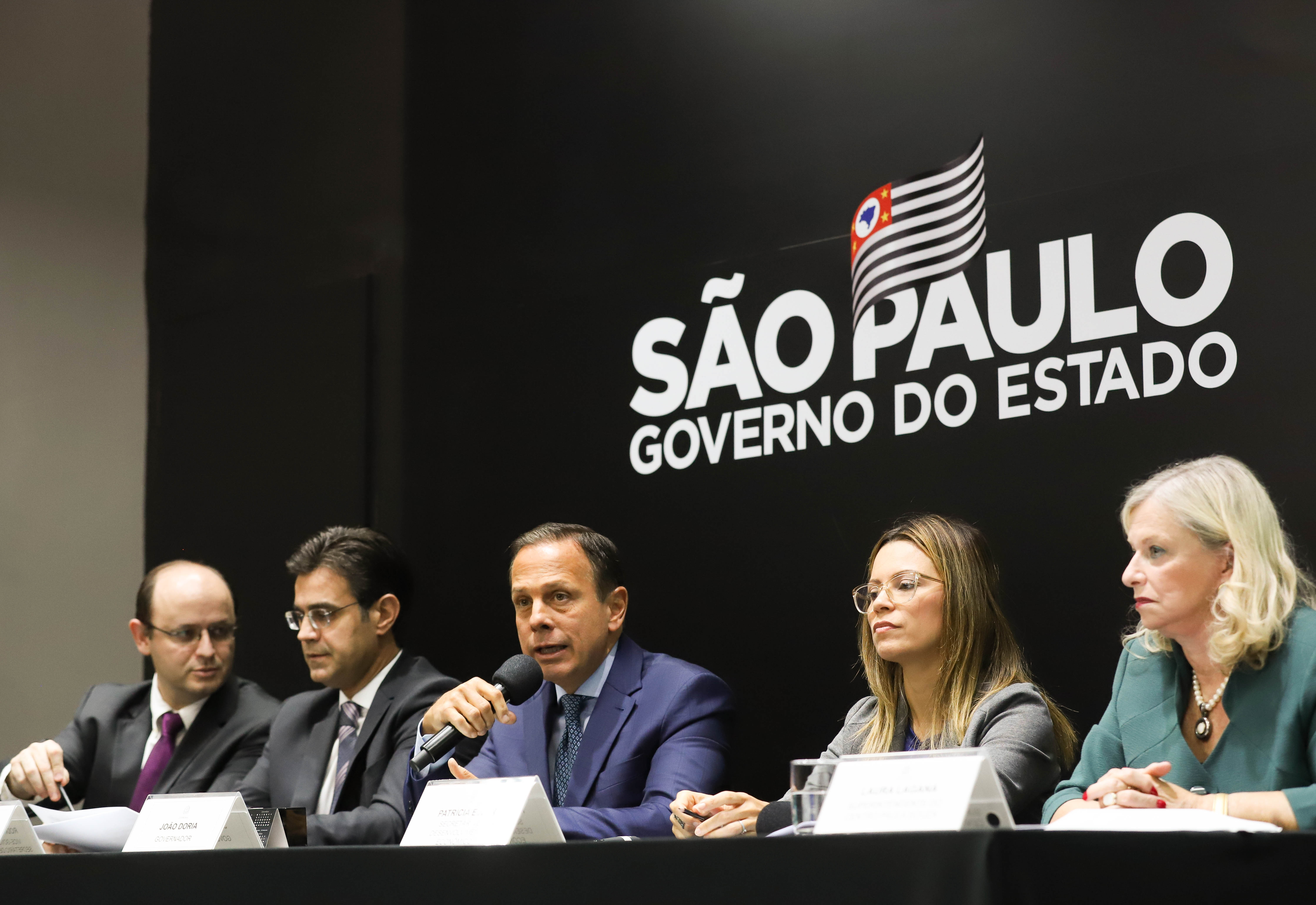 O governador do Estado de São Paulo, João Doria, participa de coletiva de imprensa, realizada no Palácio dos Bandeirantes. Local: São Paulo/SP. Data: 01/03/2019. Foto: Gilberto Marques