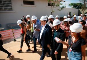 Obras da Escola Raul Brasil, em Suzano, estão 90% concluídas; entrega será em abril